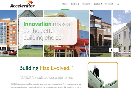 NUDURA Worldwide Web Packages Template - Accelerator